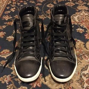 MENS • Kenneth Cole Grey / Black Sneakers 10